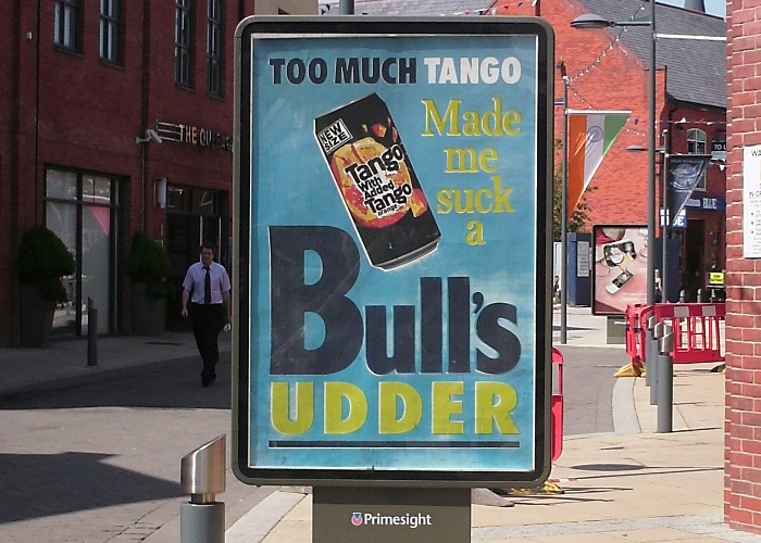 Too much Tango made me suck a bull's udder